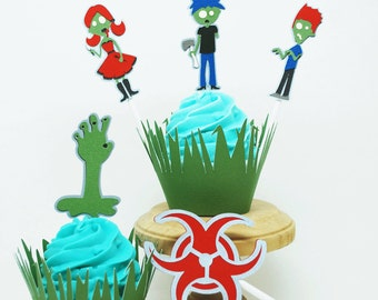 Zombie Cupcake Toppers