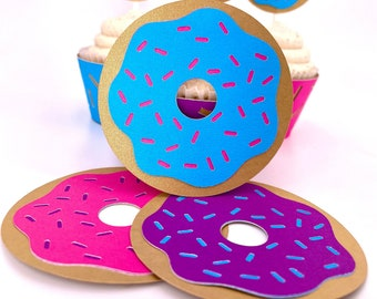 Sprinkle Donut Favor Tags Set of 6 By Your Little Cupcake