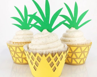 Pineapple Cupcake Wrappers and Toppers