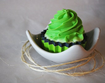 Halloween Lime and Grey Crinkle Cupcake Wrappers Set of 12