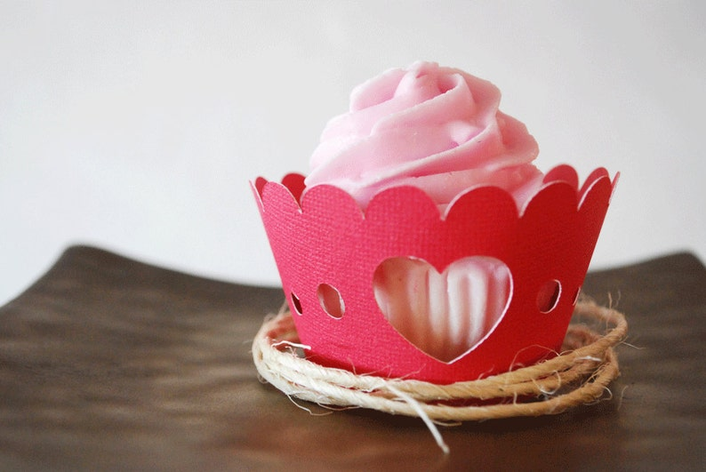 Valentine's Day Heart Cupcake Wrappers In your choice of image 0
