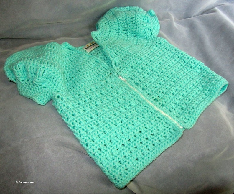 Zipper Sweater Child 4  New Mint Green Crochet Top  Dressy image 0