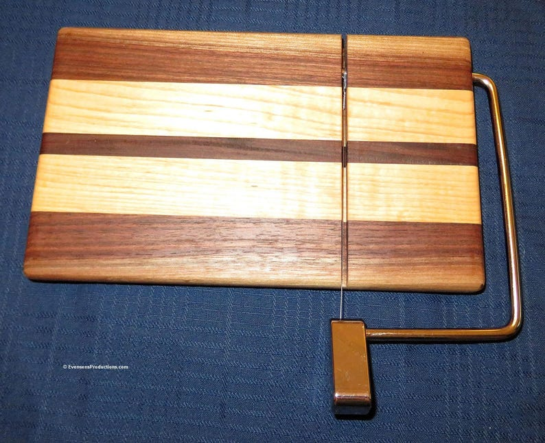 Cheese Slicing Serving Board  Walnut Maple Bolivian Rosewood image 0