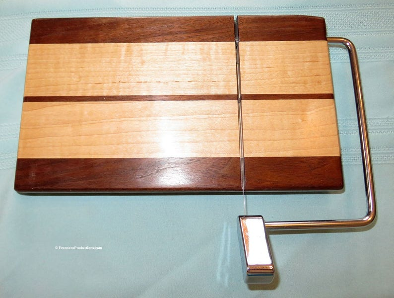 Cheese Slicing and Serving Board  Walnut and Maple Woods  image 0