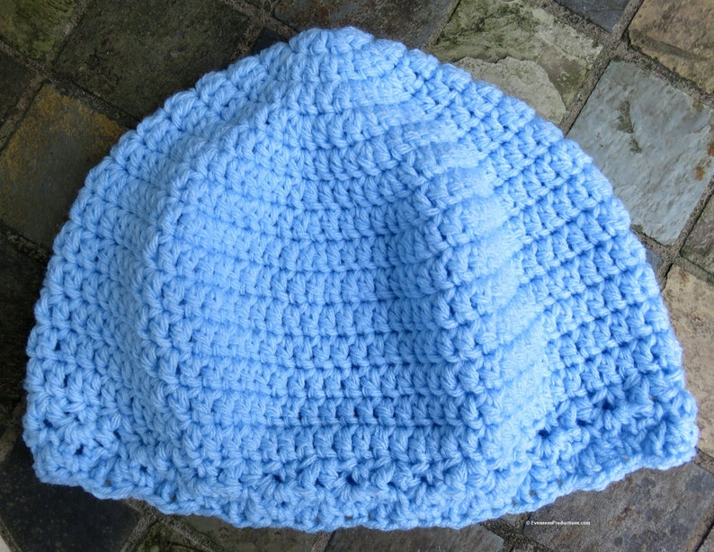 Cloche Hat  Chemo Cap  24-26 L to XL Adult  Light image 0
