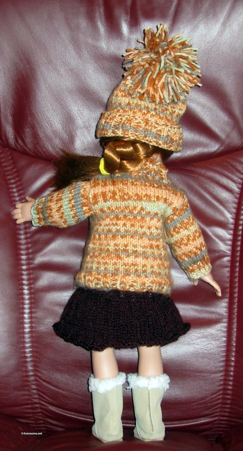 18 Inch Doll Knit Pattern Sweater Hat Skirt 18 Easy | Etsy
