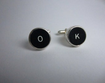 Typewriter key cuff links
