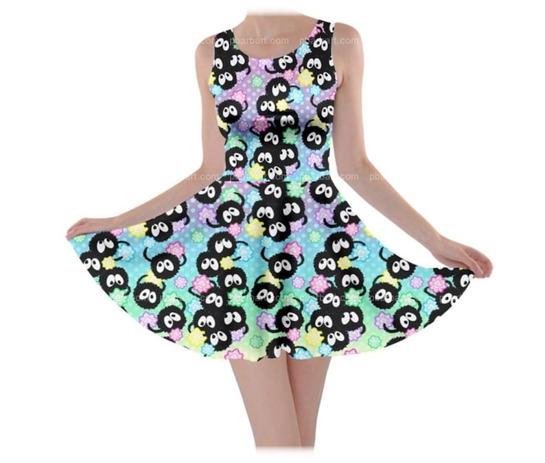 Soot Sprite Sleeveless Dress (MADE TO ORDER) Anime Mononoke Totoro Miyazaki Ghibli Soot Sprite Spirited Away Geek Nerd Kawaii Cute Cosplay