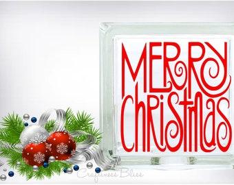 DIY Merry Christmas Vinyl Decal ~ Glass Block ~ Car Decal ~ Mirror ~ Ceramic Tile ~ Computer