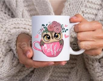 Baby Owl In Cup 11 oz Coffee Mug
