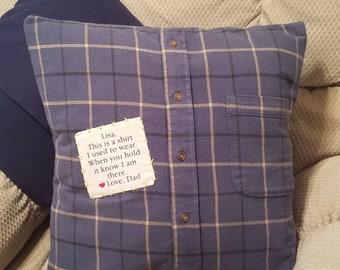 Keepsake Memory Pillow From Shirts Memorial Pillow For Loved Ones Custom Order Handmade