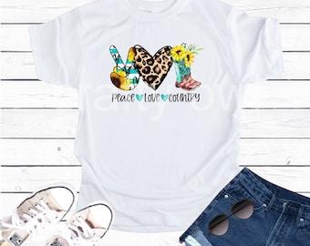 Peace Love Country Vapor Apparel T-Shirt
