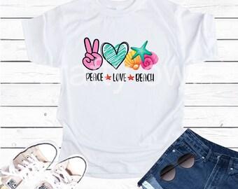 Peace Love Beach Vapor Apparel T-Shirt