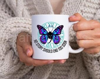 Semicolon No Story Should End Too Soon Semi Colon Suicide Awareness Depression Mental Health 11 oz Coffee Mug