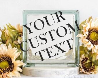 Custom Order Decal  for Glass Blocks