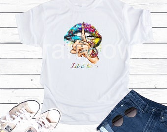 Lips Hippie Let It Be Vapor Apparel T-Shirt