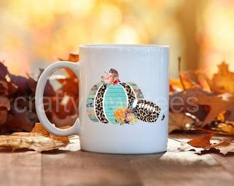 Football Pumpkin 11 oz Coffee Mug