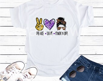 Peace Love Mom Life Vapor Apparel T-Shirt