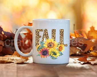 Fall Sunflowers Thanksgiving Halloween 11 oz Coffee Mug