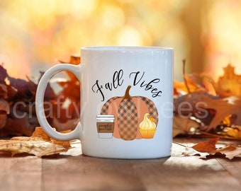 Fall Vibes Thanksgiving Halloween 11 oz Coffee Mug