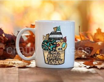Autumn Leaves And Pumpkins Please 11 oz Coffee Mug