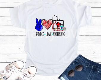 Peace Love Nursing Vapor Apparel T-Shirt