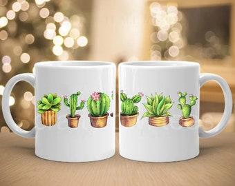 Succulent Wrap 11 oz Coffee Mug