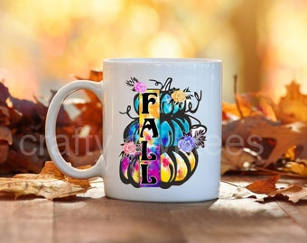Fall Pumpkins Thanksgiving Halloween 11 oz Coffee Mug