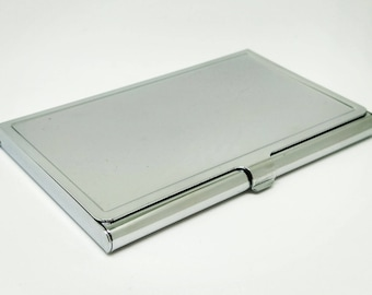 Metal card case etsy blank business card holder metal card case card holder frame colourmoves