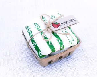 Asparagus Flour Sack Kitchen Towel