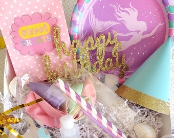 Mermaid party for TWO   Mermaid party box  