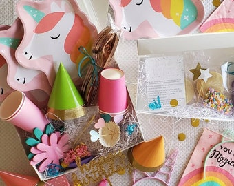 Unicorn Party Box   COOKIE KIT INCLUDED