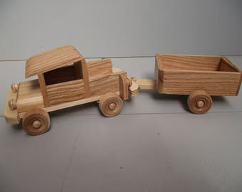 Small Wooden Truck with trailer