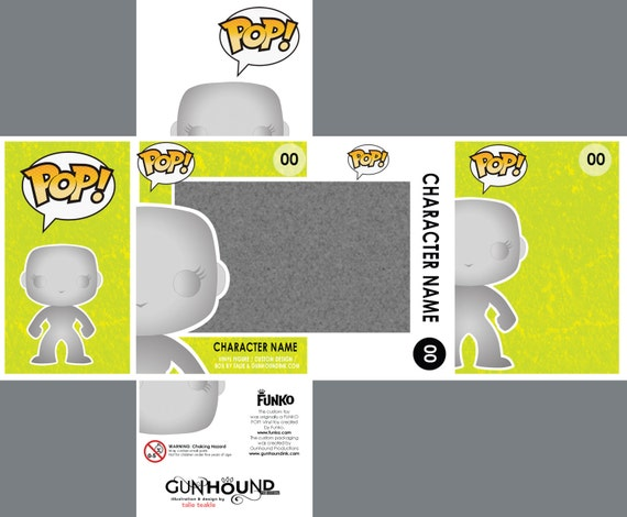 photoshop files for custom funko pop vinyl toy packaging etsy