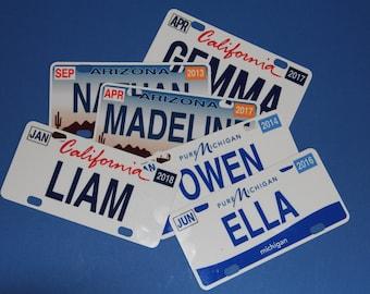 Mini State License Plates