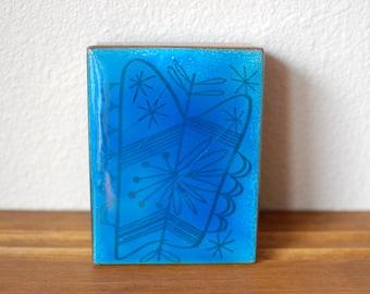 Mid Century Modernist Ed Winter Edward box Enamel Tray Box