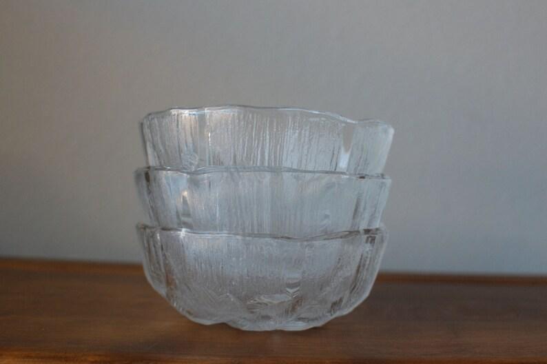 Vintage Hoya Crystal salad cereal fruit bowls iceberg pattern