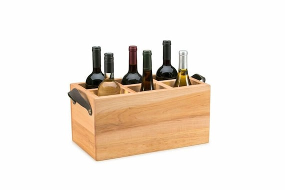 Wood Wine Bottle Holder Wooden Wine Crate Wooden Wine Box Wine Crates Wine Holder Wine Storage