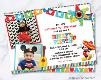 Mickey Mouse Fiesta Invitations