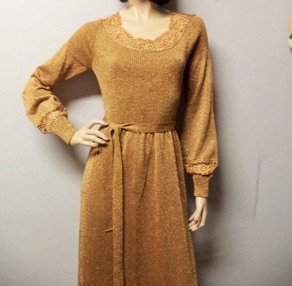Vintage 60's -70's  Wenjilli Lurex Metallic knit M