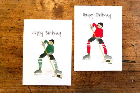 Hockey Birthday Card Birthday Card Hockey Birthday Card For Etsy