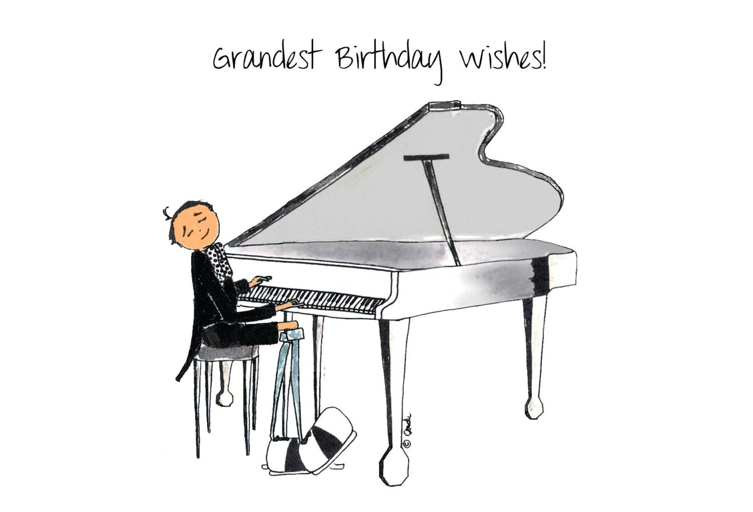 Piano Boy Card Grand For Dad Him