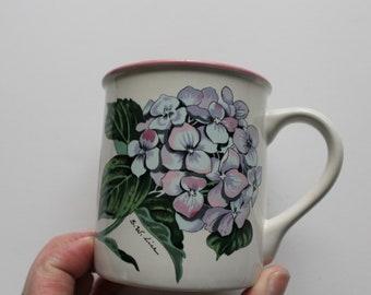 Hydrangea Mug Etsy