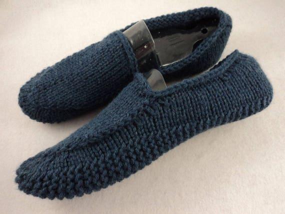Pdf Mens Knit Loafer Slipper Pattern Etsy