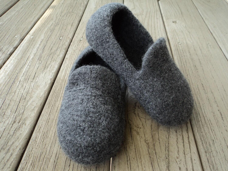 Pdf Mens Loafer Slipper Felted Wool Knitting Pattern Etsy