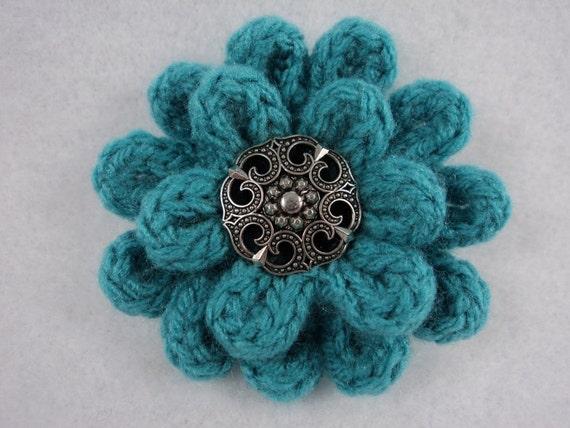 Pdf 3 Flower Pin Pattern Uses Knit Crochet To Create Etsy