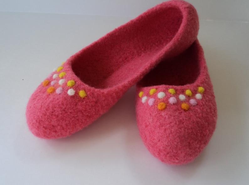 PDF Ladies Ballet Slippers Felted Wool Knitting Pattern image 0