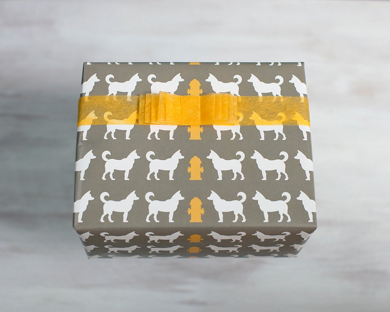 Modern Dog Recycled Gift Wrap Luxe Wrapping Paper image 0