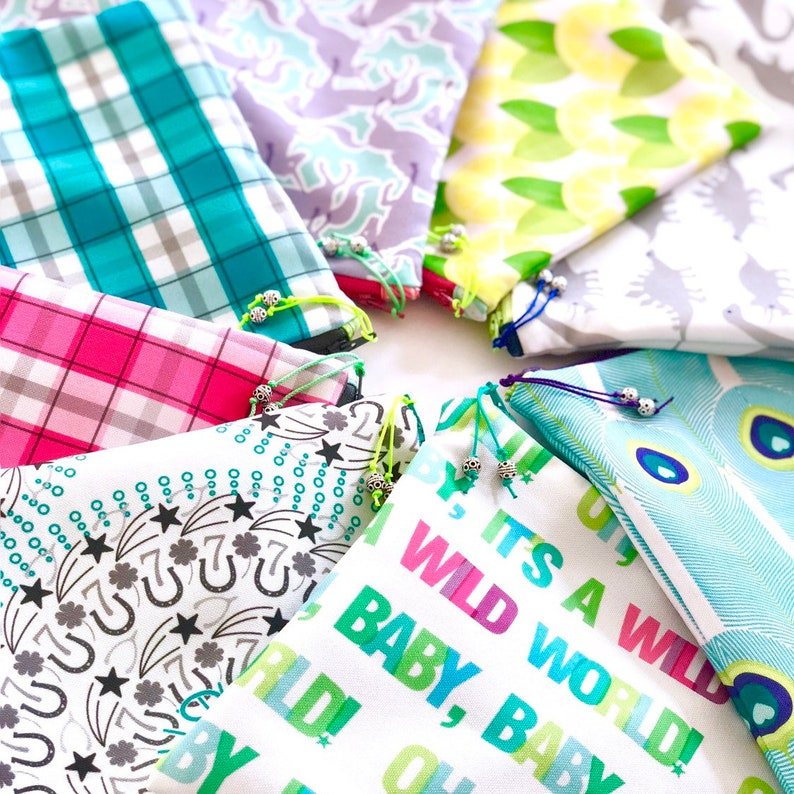 Musical Baby Shower Bag Gender Neutral Gift for Mom Colorful Zipper Pouch Wild World Diaper Bag Oh Baby Mess Bag Typography Wet Dry Bag
