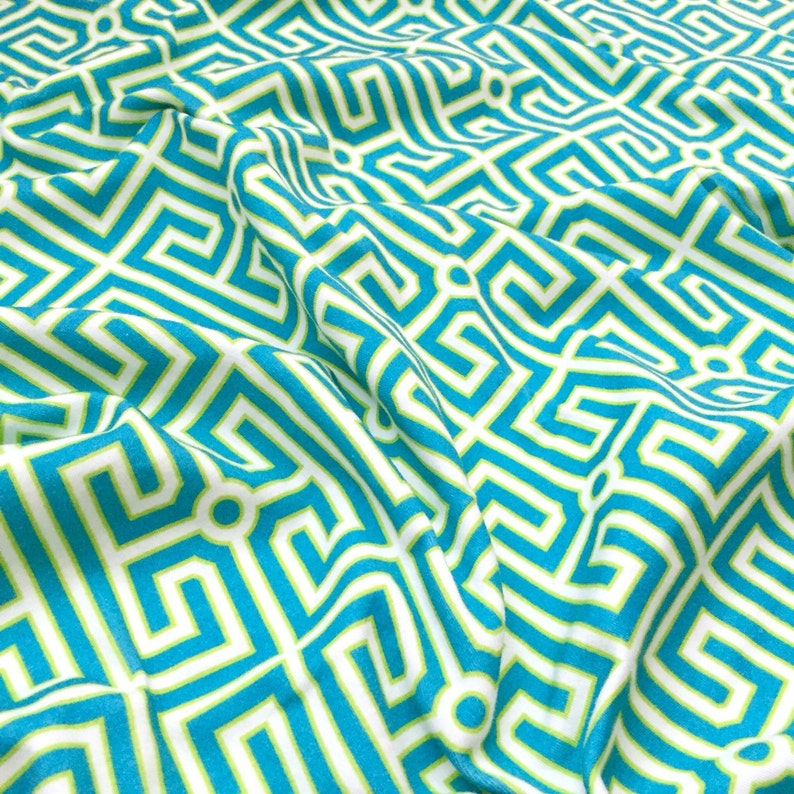 Hat Nursing Cover Blue Green Baby Shower Gift Teal Newborn Blanket Greek Key Organic Cotton Swaddle Blanket Geometric Stroller Blanket